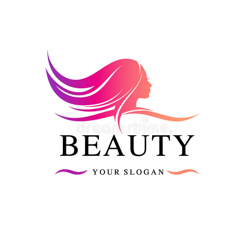 Beauty Salon Logo Template Vector Illustration Stock
