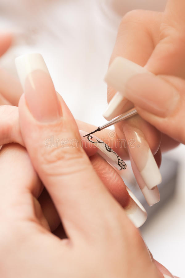Free Beauty Salon: Manicure, Painting On Nail Royalty Free Stock Photos - 11304398