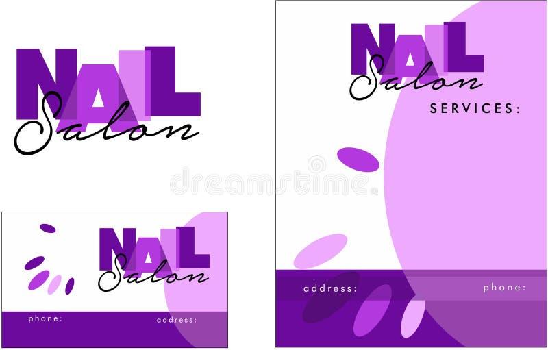Beauty salon modern Logo, Business Card, Flyer stock illustration