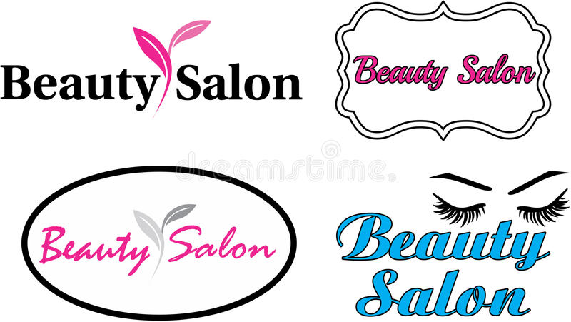 Beauty salon modern logo. Beauty salon elegant modern logo vector illustration