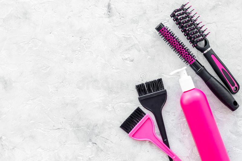 Beauty Salon Pink Work Tools With Comb For Hair Dress And ...