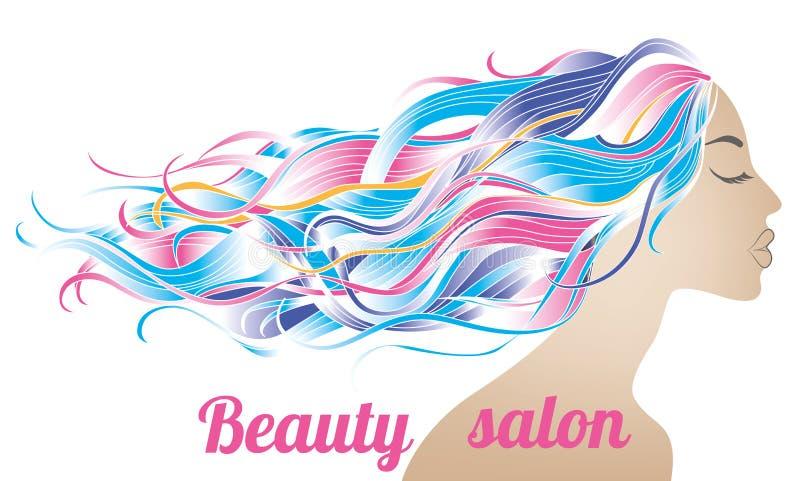 Beauty salon poster royalty free stock photo