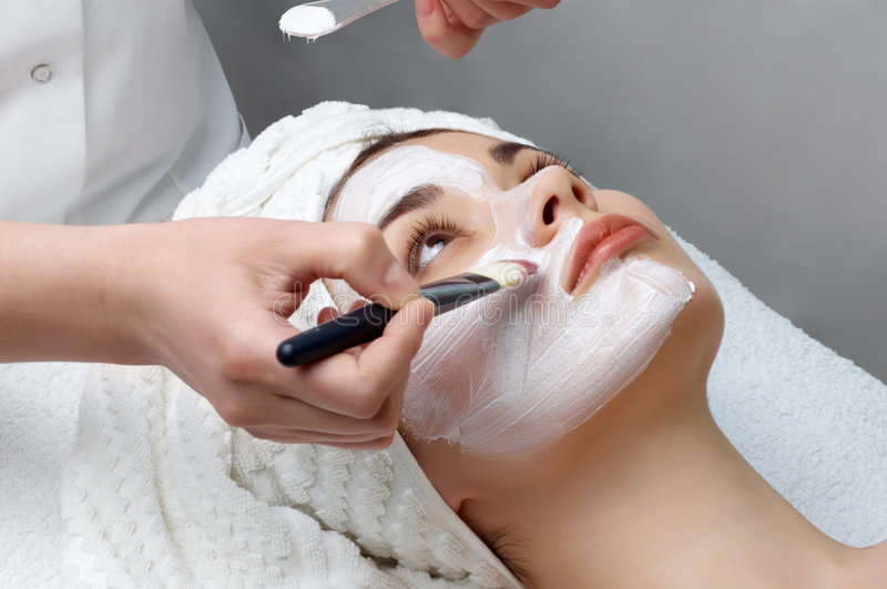 Beauty Salon Series, Facial Mask Stock Photography
