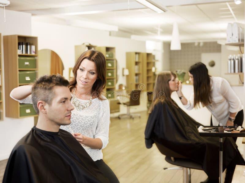 Beauty salon situation stock photo