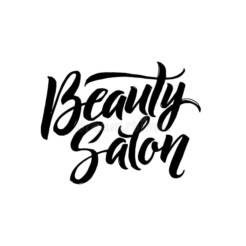 Beauty Salon Typography Square Poster. Vector lettering. Calligraphy phrase for gift cards, scrapbooking, beauty blogs vector illustration