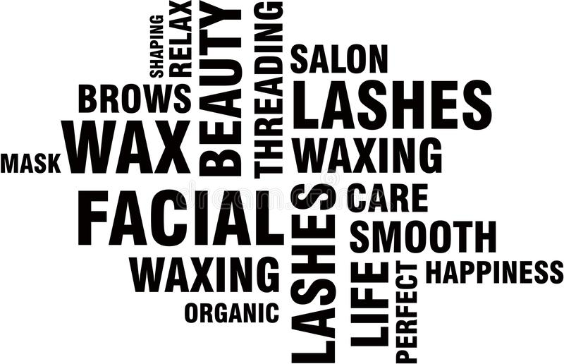 Beauty Salon Word Cloud. Words Modern colleague of spa royalty free illustration