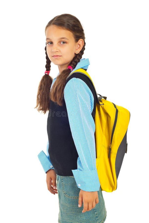 Download Beauty Schoolgirl In First Day Of School Stock Photo - Image of smiling, preteen: 19999668