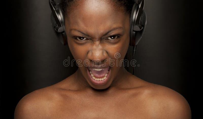 Beauty scream royalty free stock photography