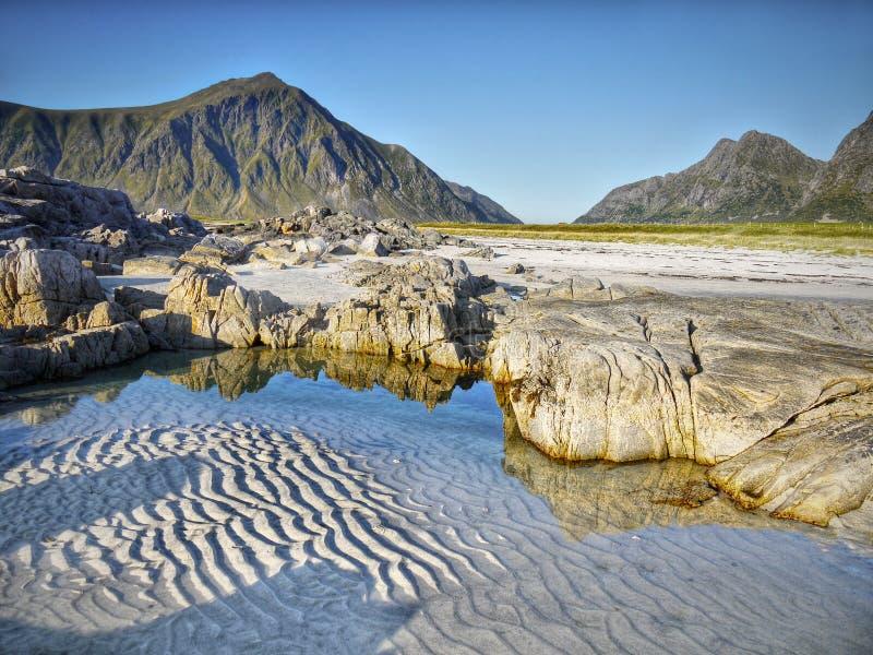 Ocean coast, Lofoten Islands stock image