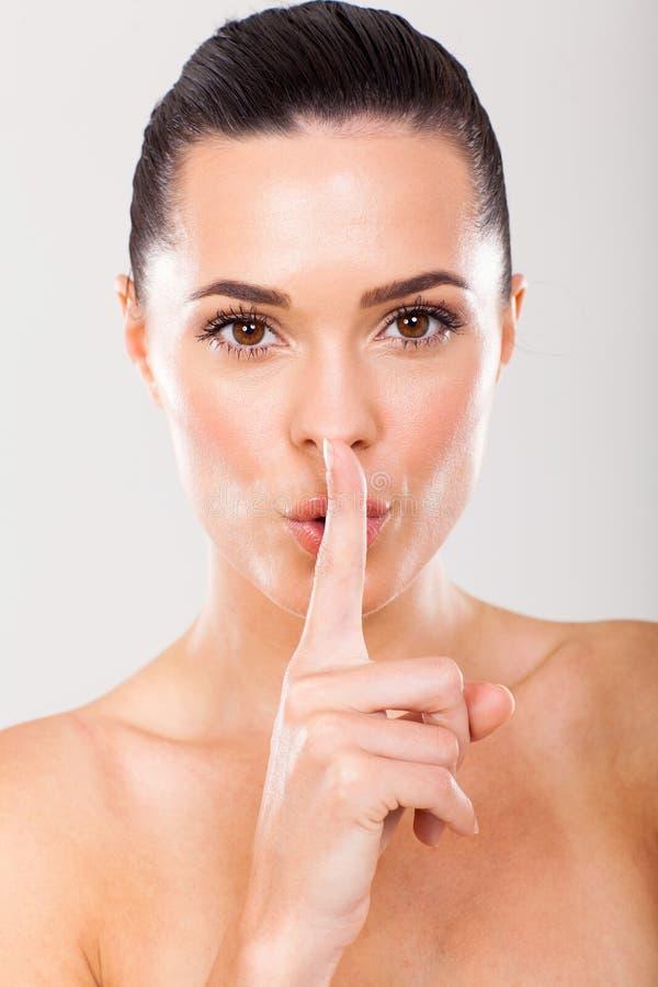Beauty secret royalty free stock photo