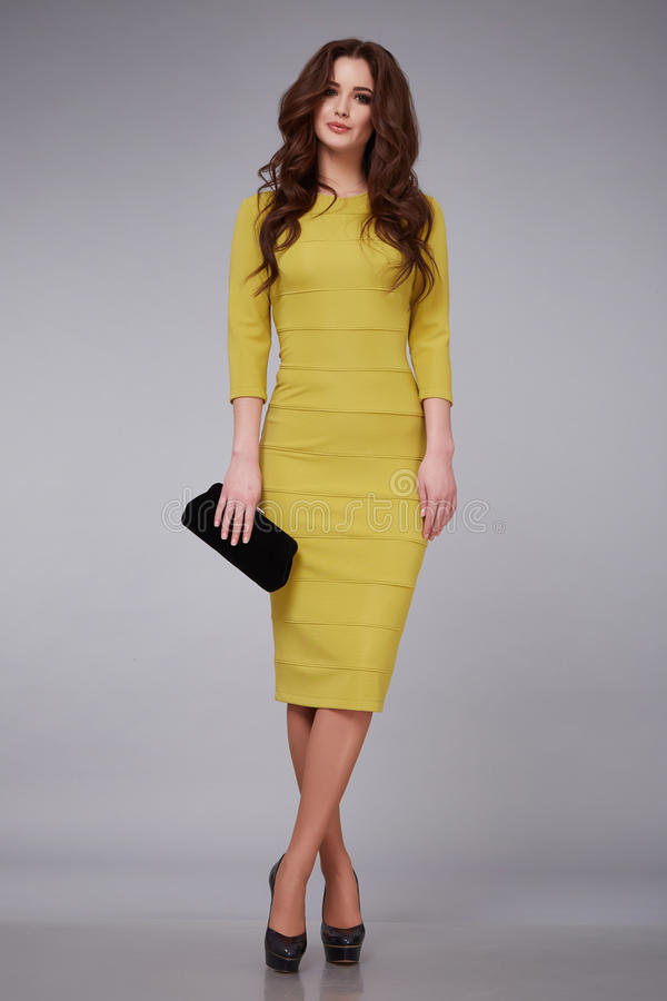 Beauty dress clothing makeup fashion style woman royalty free stock images