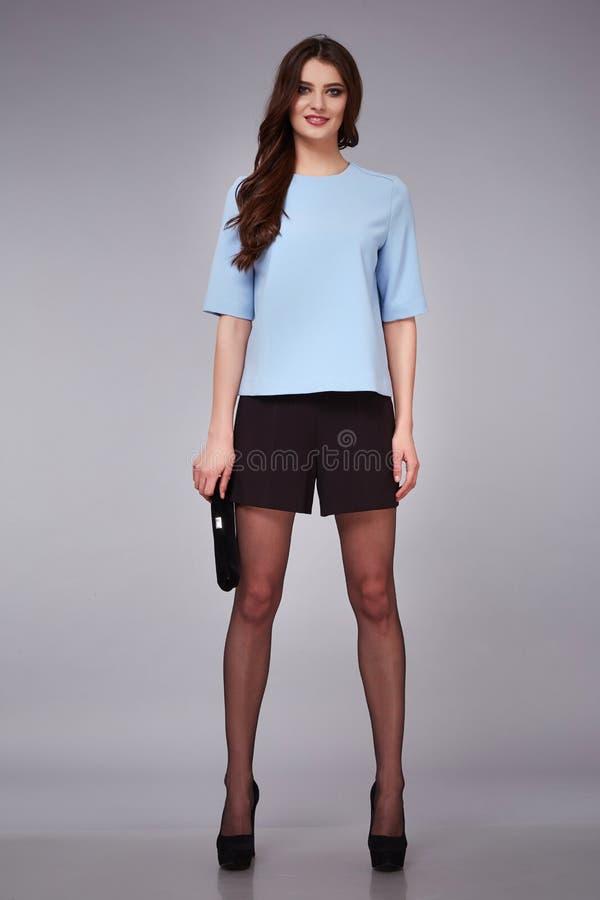 Beauty dress clothing makeup fashion style woman stock image