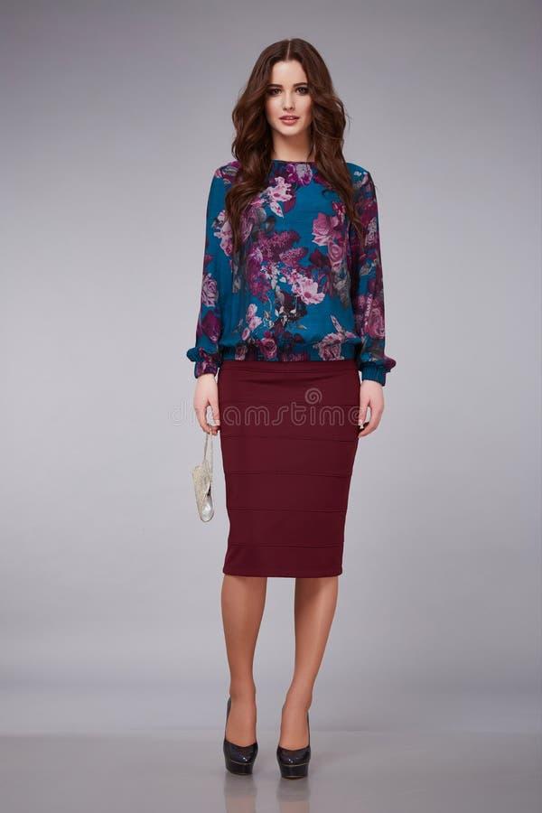 Beauty dress clothing makeup fashion style woman royalty free stock photos