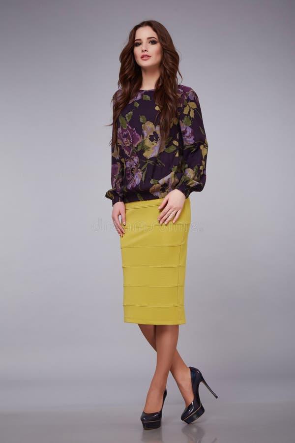 Beauty dress clothing makeup fashion style woman royalty free stock photo