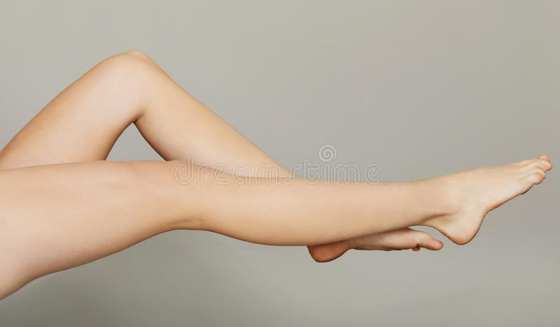 Beauty legs. The photo of long, slim and beauty woman`s legs royalty free stock image