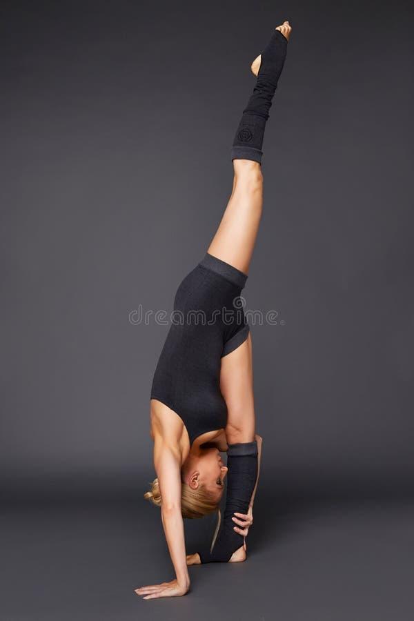 Beauty woman sport yoga pilates fitness body shape clothes royalty free stock image