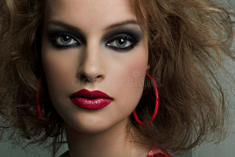 Download Beauty Shot stock image. Image of earrings, bright, dress - 2467915
