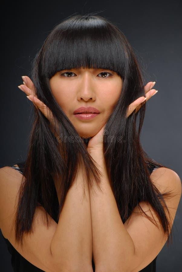 Beauty shot of a beautiful elegant Asian woman stock images