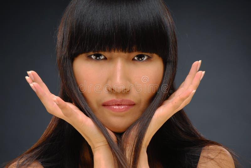 Beauty shot of a beautiful elegant Asian woman royalty free stock photos