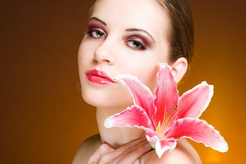 Beauty shot of elegant brunette. royalty free stock photos