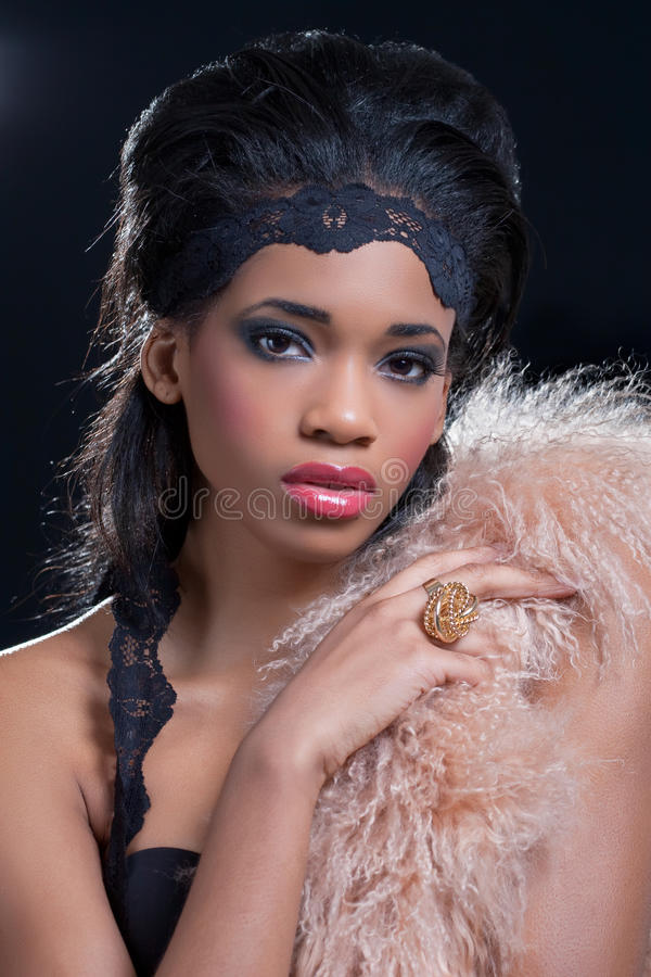 Beauty shot of a young black woman stock photo