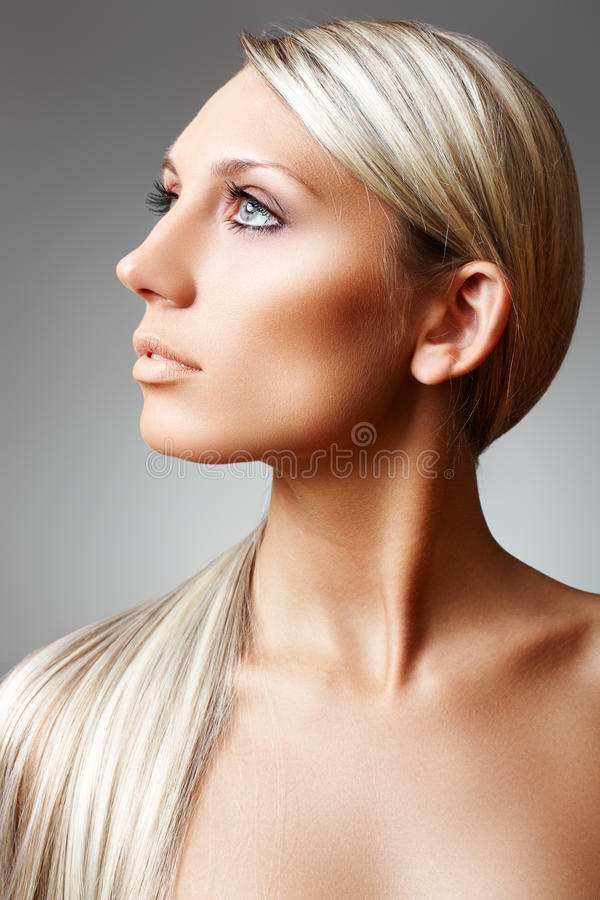 Download Beauty And Skin Care. Chic Shiny Blond Long Hair Stock Image - Image: 15374383