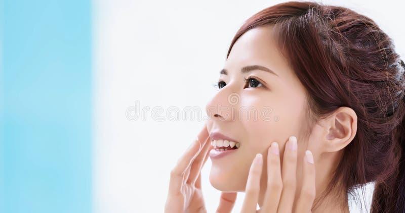 Beauty skin care woman stock image