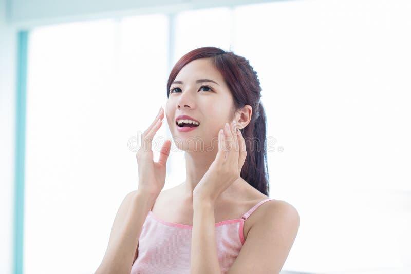 Beauty skin care woman royalty free stock photo