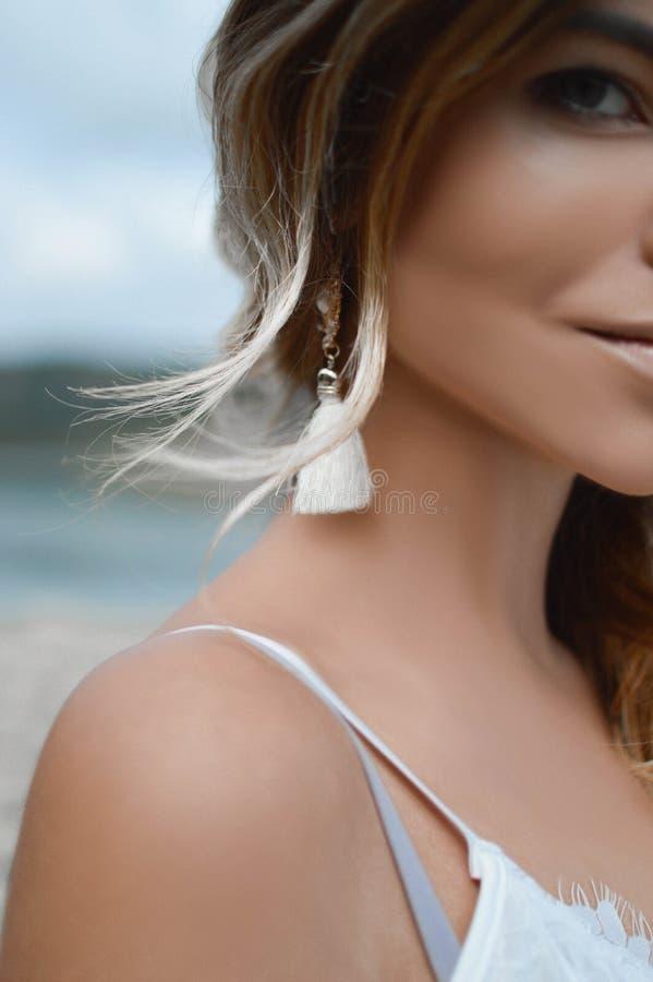 Beauty, Skin, Human Hair Color, Shoulder royalty free stock image