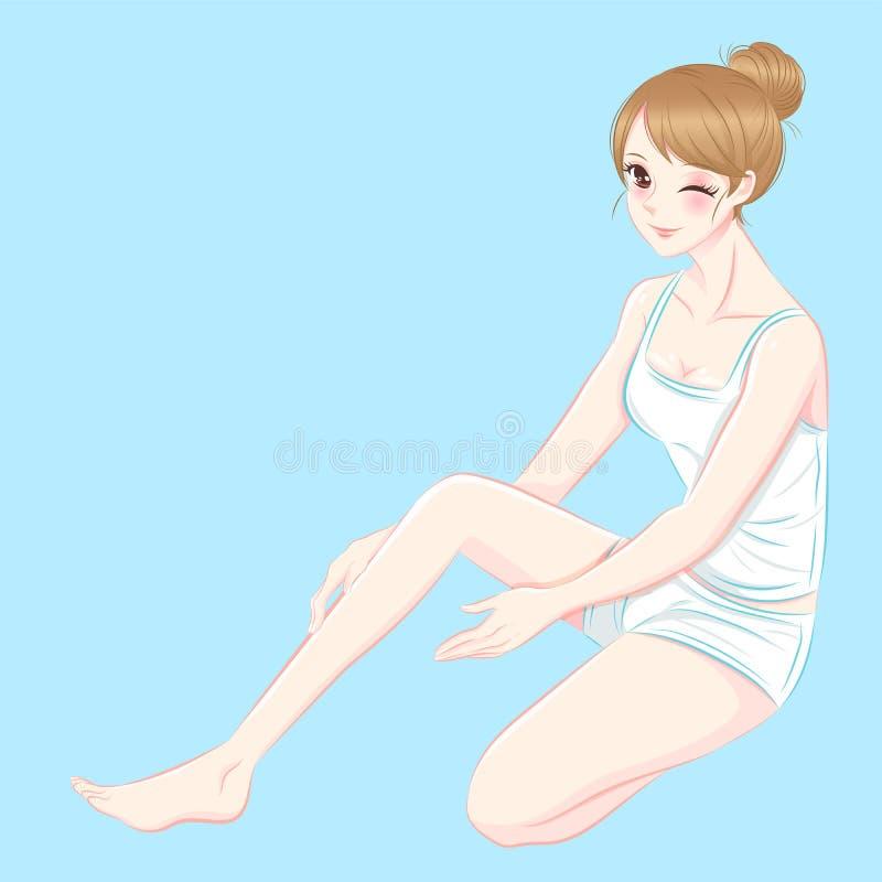 Beauty skincaare woman stock illustration
