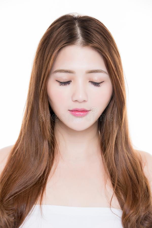 Beauty woman close eyes royalty free stock images