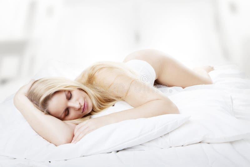 Download Beauty sleep stock photo. Image of length, down, bedroom - 12657790