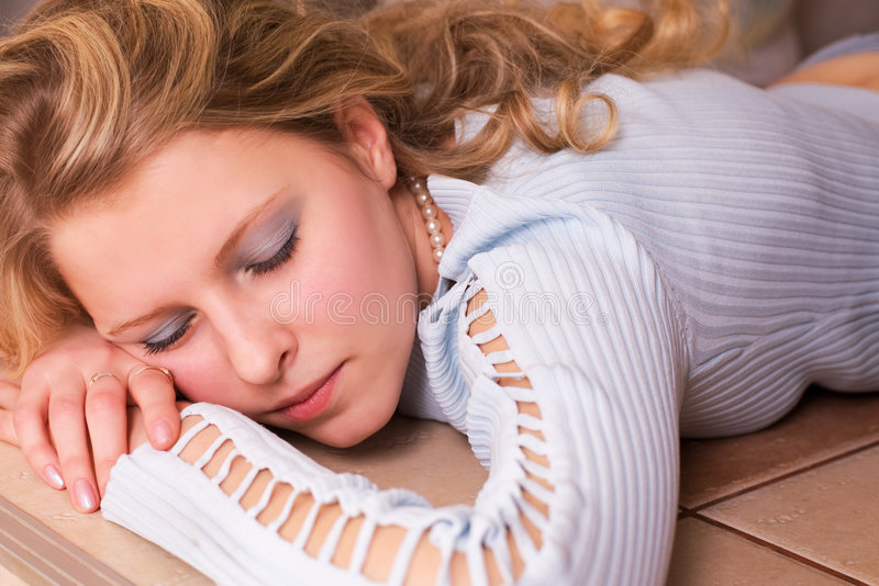 Beauty sleeping royalty free stock images