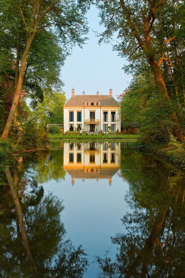 Download Beauty, Small Chateau, And His Reflection Stock Image - Image: 9896265