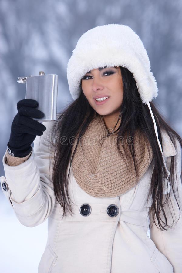 Download Beauty on snowy outdoors stock photo. Image of happy - 17292200