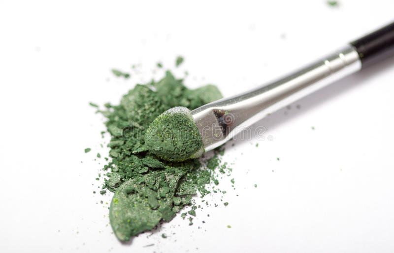 Beauty. Some colorful broken eye shadow stock images