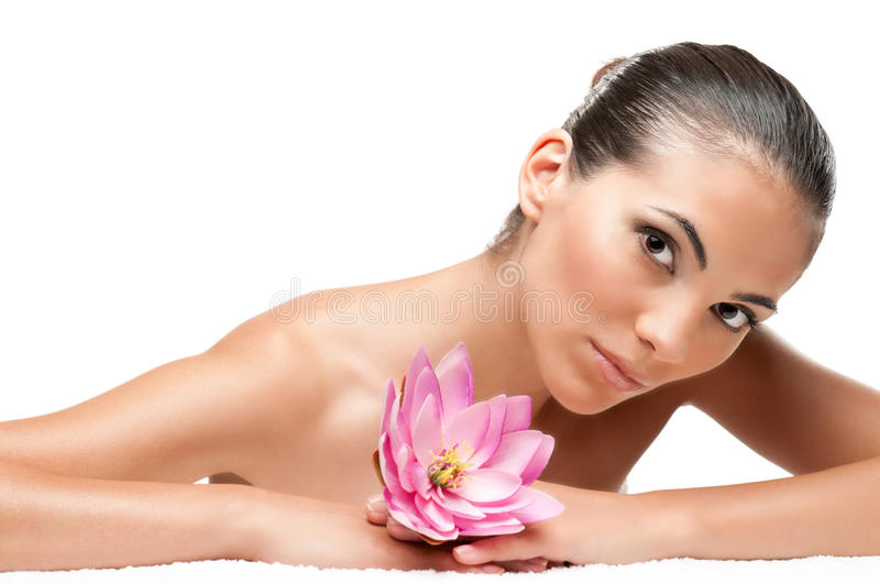 Download Beauty at spa stock photo. Image of background, attractive - 18267658