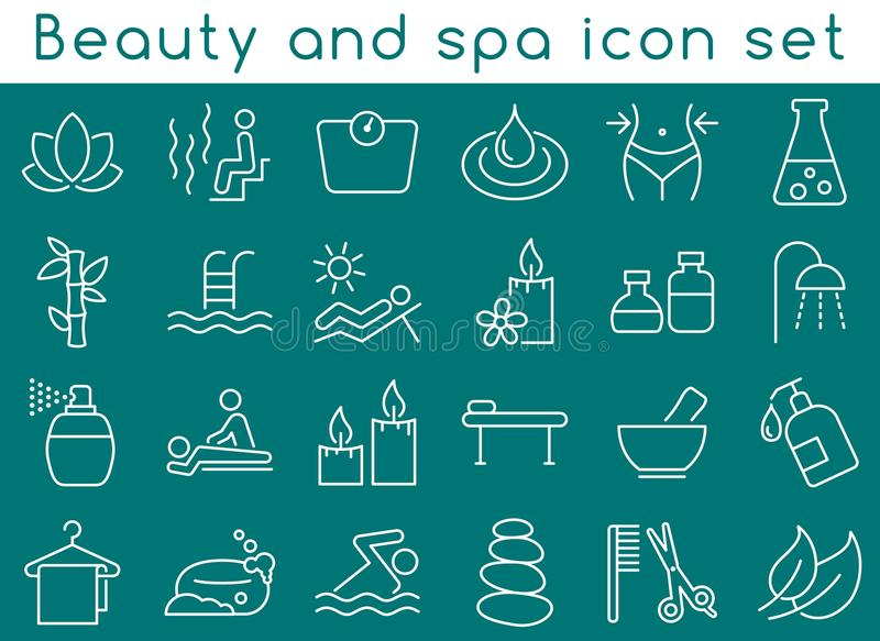 Beauty and spa icon set royalty free illustration