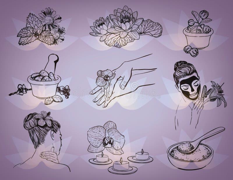 Beauty Spa vectorreeks vector illustratie