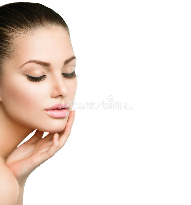 Download Beauty Spa Woman Portrait stock photo. Image of hand - 41594848