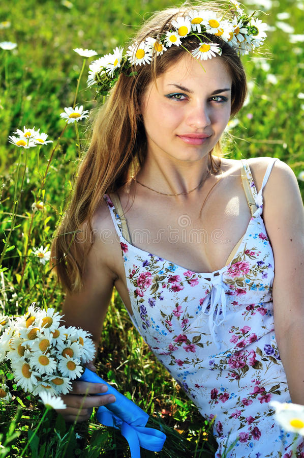 Download Beauty spring girl stock photo. Image of outdoors, people - 14647402