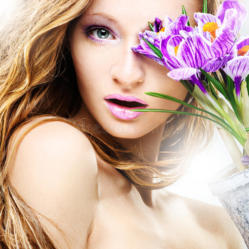 Beauty spring portrait royalty free stock image