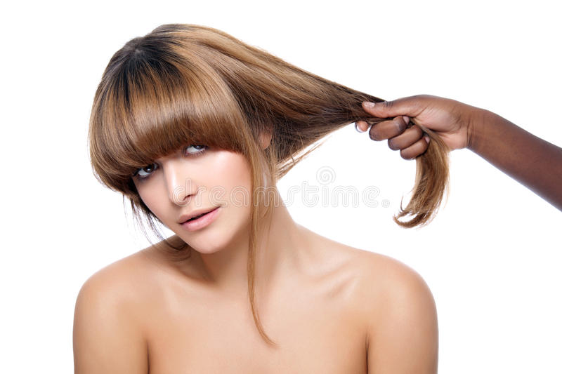 Download Beauty with strong hair stock photo. Image of attractive - 26555950