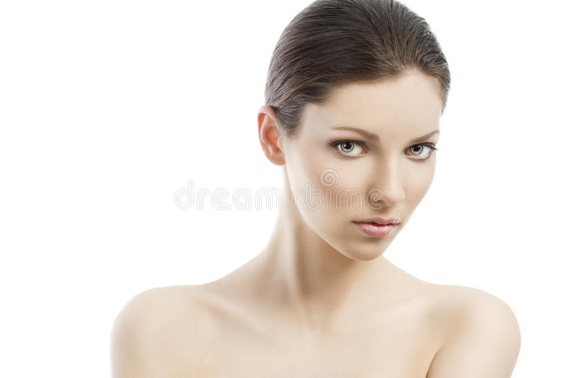 Beauty style face shot, her face is royalty free stock image