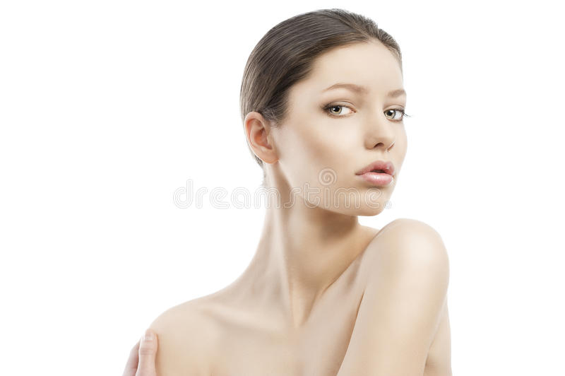 Download Beauty Style Face Shot, The Left Shoulder I Stock Image - Image: 22637573