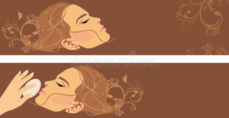 Download Beauty Style. Two Decorative Banners Stock Vector - Image: 25089523