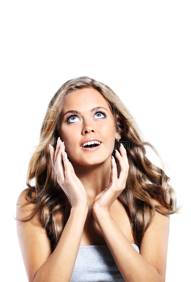 Beauty surprised woman royalty free stock image
