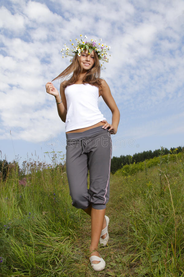 Download Beauty teenage outdoors stock image. Image of happiness - 18147255