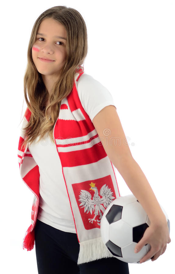 Download Beauty Teenager Like A Polish Soccer Fan Royalty Free Stock Image - Image: 24876196