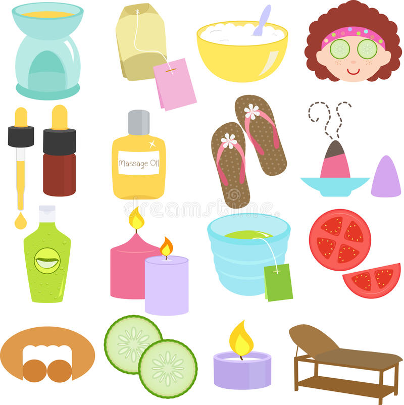 Download Beauty tools, Spa Icons stock vector. Image of icon, mask - 27452554